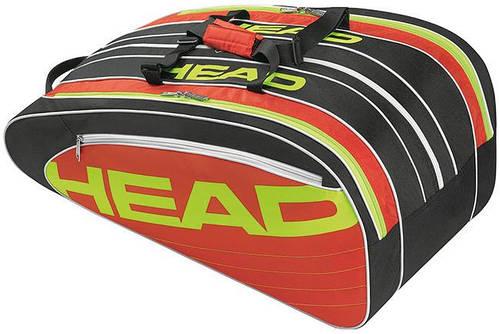 Красивая теннисная сумка-чехол на 10 ракеток  283404 Elite Monstercombi  BKRD HEAD