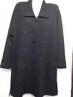Пальто  женское, черное, осенне - весеннее.