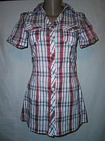 Рубашка - туника  женская, котоновая, стрейчевая.