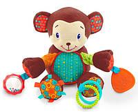Плюшевая развивающая игрушка Обезьянка, Bright Starts (8814-4)