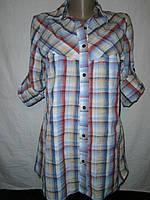 Рубашка -  женская, котоновая,