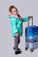 Куртка Детская двухсторонняя мята и пудра мальчик+девочка