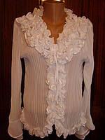 Блузка-рубашка женская, шифоновая.