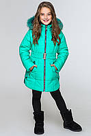 Куртка-парка для девочек КД-007 Бирюза