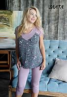 Домашний костюм / пижама футболка, бриджи/лосины ЗЛАТА Fleur Lingerie