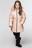 Куртка-парка для девочек КД-007 Бежевый
