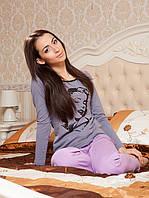 Женская пижама (штаны+кофта). Домашний костюм