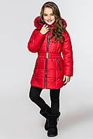 Куртка-парка для девочек КД-007 Красный