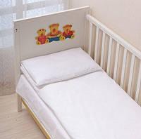 Комплект белого постельного белья в кроватку белый Вилюта ранфорс