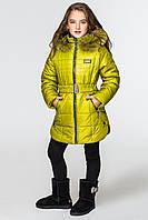 Куртка-парка для девочек КД-007 Салатовый