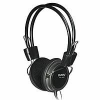 Гарнитура SVEN AP-520 с микрофоном, чёрные Стереонаушники с микрофоном и рег. громкости, сопротивление 32 Ом,ч