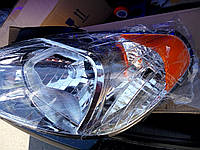 Фара правая Hyundai Accent (Хюндай Акцент) 92102-1E088 (под электрокорректор)