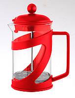 Чайник френч-пресс (заварник) Con Brio СВ-5460 красный, 600 мл
