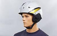 Шлем горнолыжный (бело-золотой)