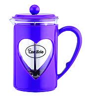 Чайник френч-пресс (заварник) Con Brio СВ-5660 фиолетовый, 600 мл