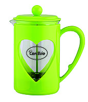 Чайник френч-пресс (заварник) Con Brio СВ-5660 зеленый, 600 мл