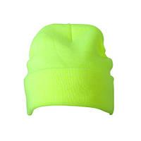 Вязаная шапка с отворотом Thinsulate  цвет неоново-жёлтый MB7551