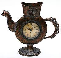 """Часы настольные """"Чайник"""", металлические, 33x14см."""