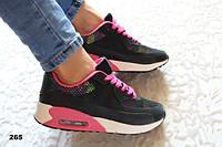 Кроссовки Nike Air Max женские черно-розовые