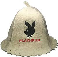 Шапка для сауны с вышивкой Playhrun