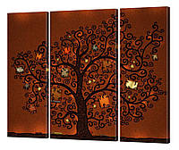 """Модульная картина """"Книжное дерево"""" 116x99 см"""