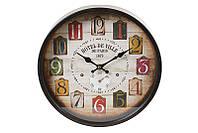 """Настенные металлические часы для кухни """"Отель"""", 30 см."""