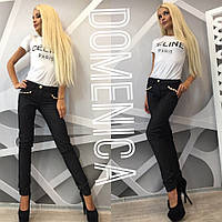 Женские джинсы с украшениями а-3112158