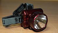 Фонарь налобный YJ - 1890 - 1 светодиодный аккумуляторный с подзарядкой от 200v