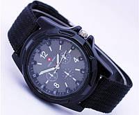 Мужские часы Swiss Army кварцевые синий ремешок корпус и циферблат