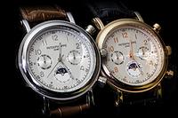 Часы в стиле Patek Philippe кварцевые мужские наручные часы