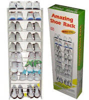 Органайзер для обуви полка для обуви amazing shoe rack металлическая 30 пар