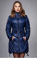 Зимняя  куртка  полуприталенного покроя