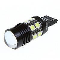 LED T20 W21W лампа в автомобиль 12 SMD + 1 CREE Q5