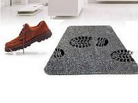 Акция! Супервпитывающий придверный коврик Clean Step Mat Моментально впитывает грязь пыль воду