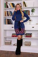 Вязаное женское платье туника Иванна