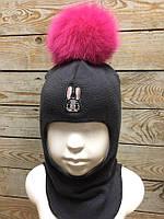 Шапка-шлем для девочки Зефир (зима)
