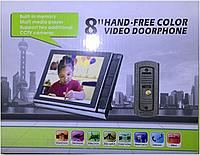 """Домофон c цветным экраном спартак JS 806 SD 8"""" дюймов возможность записи"""