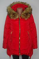 Женская зимняя куртка с капюшоном и мехом