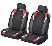 Маечки на передние сиденья FORMULA ✓ цвет: черный-красный