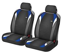 Маечки на передние сиденья FORMULA ✓ цвет: черный-голубой
