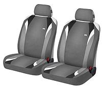 Маечки на передние сиденья FORMULA ✓ цвет: черный-серый