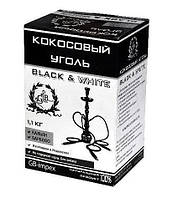 """Кокосовый уголь для кальяна """"Black & White"""" [ 1 kg ]  ЛУЧШИЙ УГОЛЬ В УКРАИНЕ!!!"""