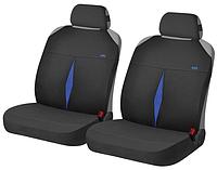 Маечки на передние сиденья KARAT ✓ цвет: черный-синий