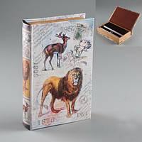 """Книга - сейф с замком """"Лев на охоте"""", 26*17*5см."""
