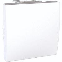 Выключатель одинарный на 2 модуля с подсветкой белый,серия Unica,Schneider