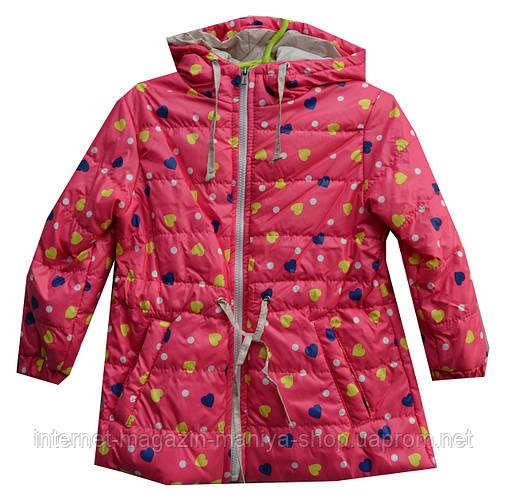 Куртка детская на девочку серце
