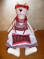 Кошка украиночкаТильда  игрушка