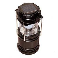 Кемпинговый фонарик с солнечное зарядкой для телефона USB G-85 6led