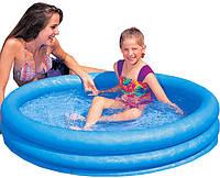 Детский надувной бассейн Intex Кристалл 59416 114x25 см с надувным дном