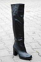 Женские кожаные ботфорты евро-мех